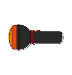 flashlight sideview icon image vector image vector image