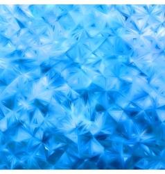Glow blue mosaic vector image vector image