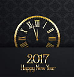Happy new year clock design 0311 vector