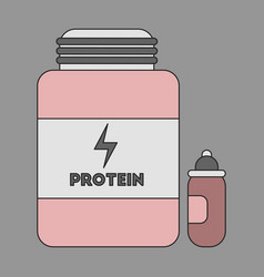 Icon in flat design bank of protein vector