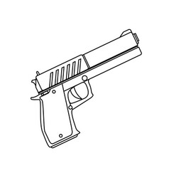 isolated handgun weapon vector image vector image