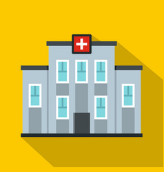 Medical center building icon flat style vector