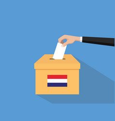 Netherlands vote election concept vector