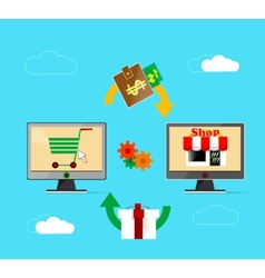 On line store vector image vector image