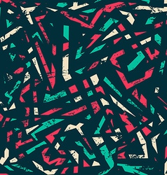 retro grunge seamless pattern vector image