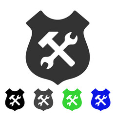 Shield options flat icon vector