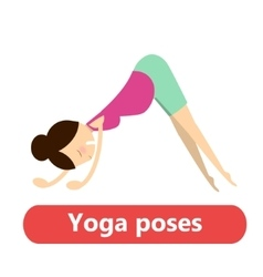 simple yoga poses for pregnant vector image vector image