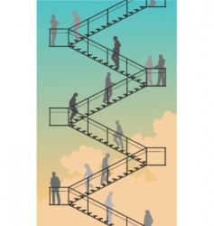 stairway vector image vector image