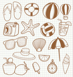 Summer travel accessory vector