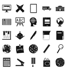 Survey icons set simple style vector
