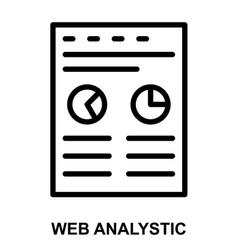 web analystic vector image