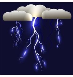 White Lightning Isolated vector image