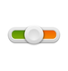 Slider button isolated vector