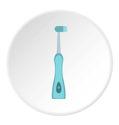 Electric toothbrush icon flat style vector
