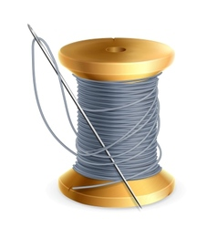 Spool of thread vector