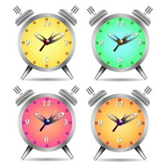 Colorful alarm clock vector