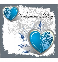 blue hearts vector image