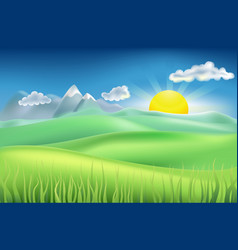 summer time field vector image