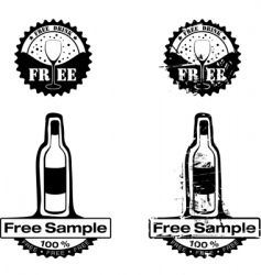 Free drink rubber stamp vector