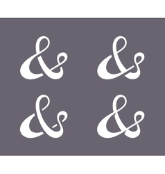 Ampersand collection vector image