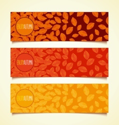 Autumn leaf fall banners vector