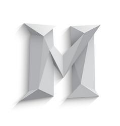 3d letter m on white vector