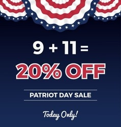 Patriot day sale promotion web banner vector