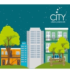 City urban landscape vector