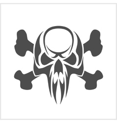 Skull and crossbones - isolated on white vector