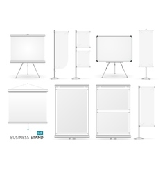 Blank business stand set vector