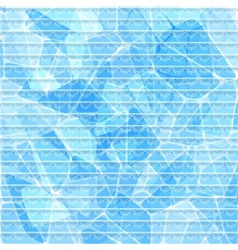 Abstract blue card with lace stripes vector image