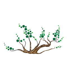 Abstract of Isometric Green Tree and Plant vector image vector image