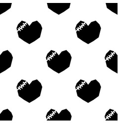 Black broken heart on white background vector