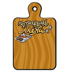 breakfast menu background vector image