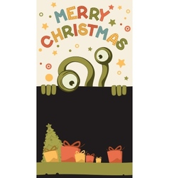 Christmas monster vector image vector image