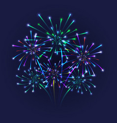 Colorful firework background vector
