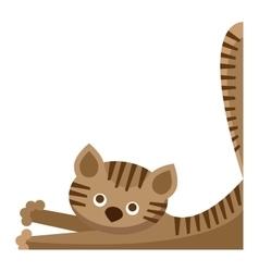 Cute furry cat animal vector image