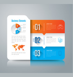 Folder infographics design with 3 options vector