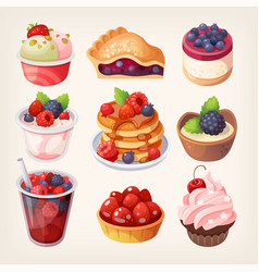 Forest fruit desserts vector