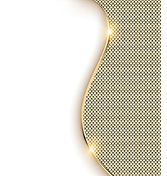Gold background with a wave and shine vector