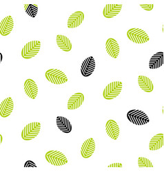 Greenery leaves seamless pattern vector