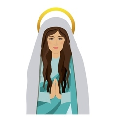 Half body saint virgin mary praying vector