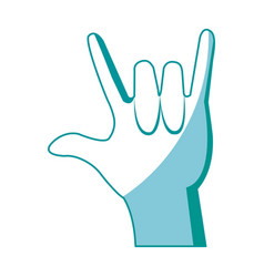 Hand man rock n roll gesture music icon vector