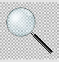 magnifying glass with steel frame isolated vector image vector image