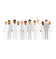 men in a line vector image vector image