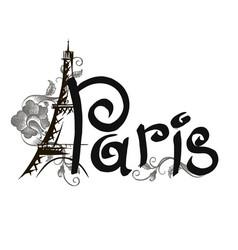 Paris lettering vector