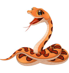 petite funny snake vector image