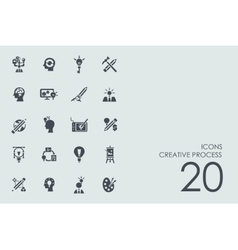Set of creative process icons vector