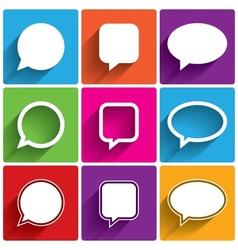 Speech bubble icons think cloud symbols vector
