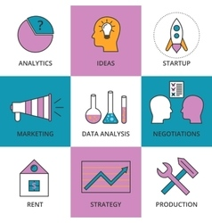Stock linear icon business development vector
